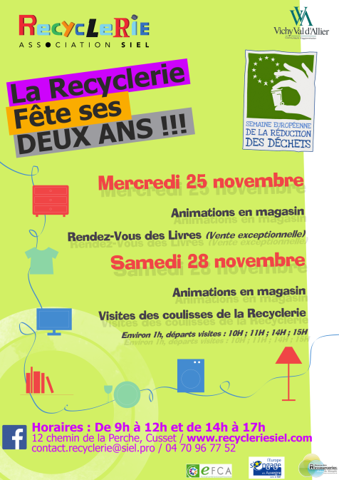 Affiche SERD - 2 ans Recyclerie 2015