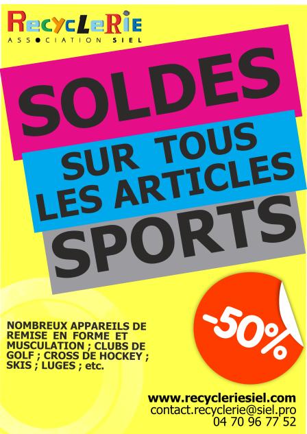 soldes articles de sport